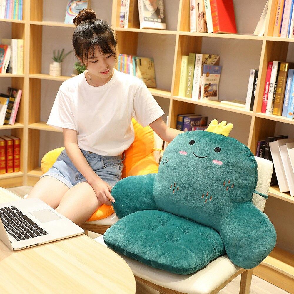 US $8.8 Comfortable Student Plush Dinosaur Cushion Multifunction Cushion  Carrot Non slip cushion office cushion computer chair cushionCushion -