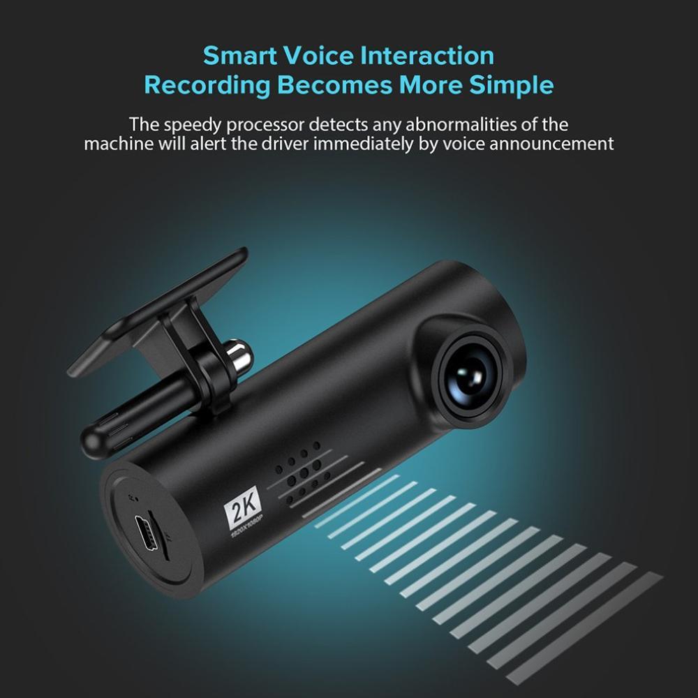 2k wideorejestrator samochodowy 1S App angielski i sterowanie głosem 1S 1080P Hd Night Vision 70 Mai 1S kamera samochodowa Wifi rejestrator 70Mai kamera na deskę rozdzielczą 1S