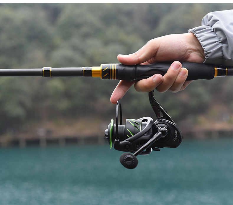 LINNHUE moulinet de pêche tout en métal 5.0: 1 traînée Max 10kg 2000-7000series moulinet de pêche en eau salée pour pêche à la carpe