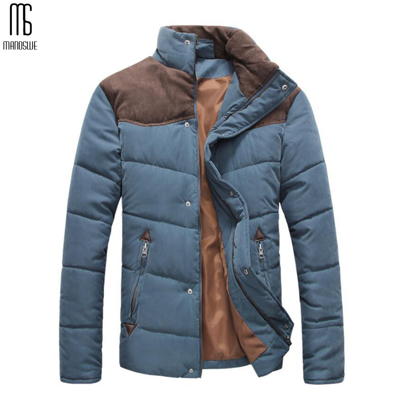 Men's Winter Jacket Outwear Stand Collar Clothing Fashion Plus Size Cotton Padded Warm Men's Casual Jacket Comfortable Coat