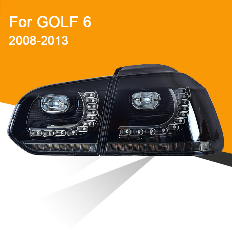 1 Pair LED Tail Lamp Assembly For Volkswagen Golf 6 2008 2009 2010 2011 2012 2013 LED Tail Light Sequential Turning Signal Light