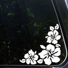 Adesivos de carro hibiscus canto flor adesivos carro vinil decalque adesivo 5.5