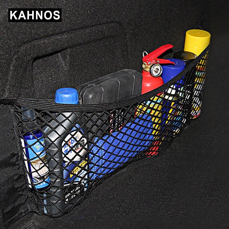 Örgü gövde organizatör araba bagajı Net naylon SUV oto kargo depolama örgü organizatör bagajında arabalar için bagaj ağları seyahat cep