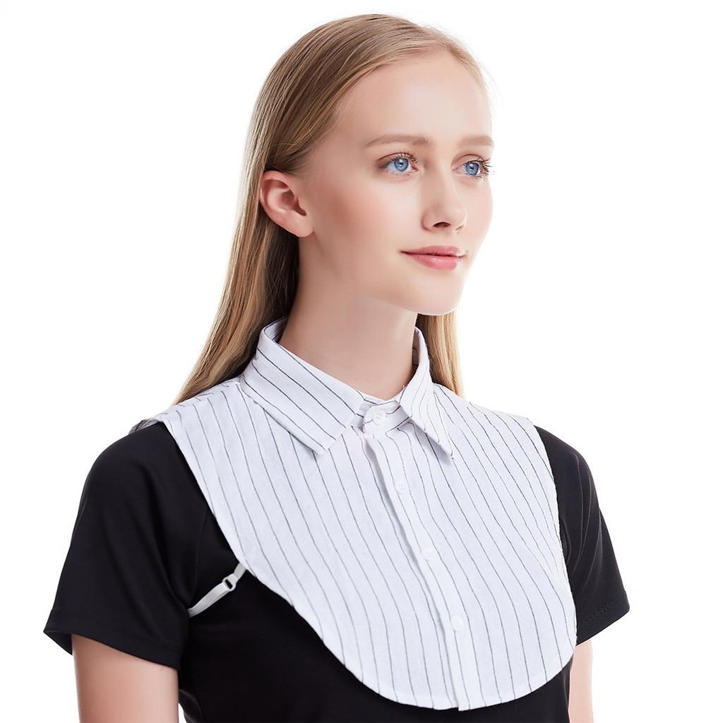Womail 2019 Fashion Fake Collar Women Detachable Collars Half Shirts Detachable Collars For Women New Style Fake Collar Black
