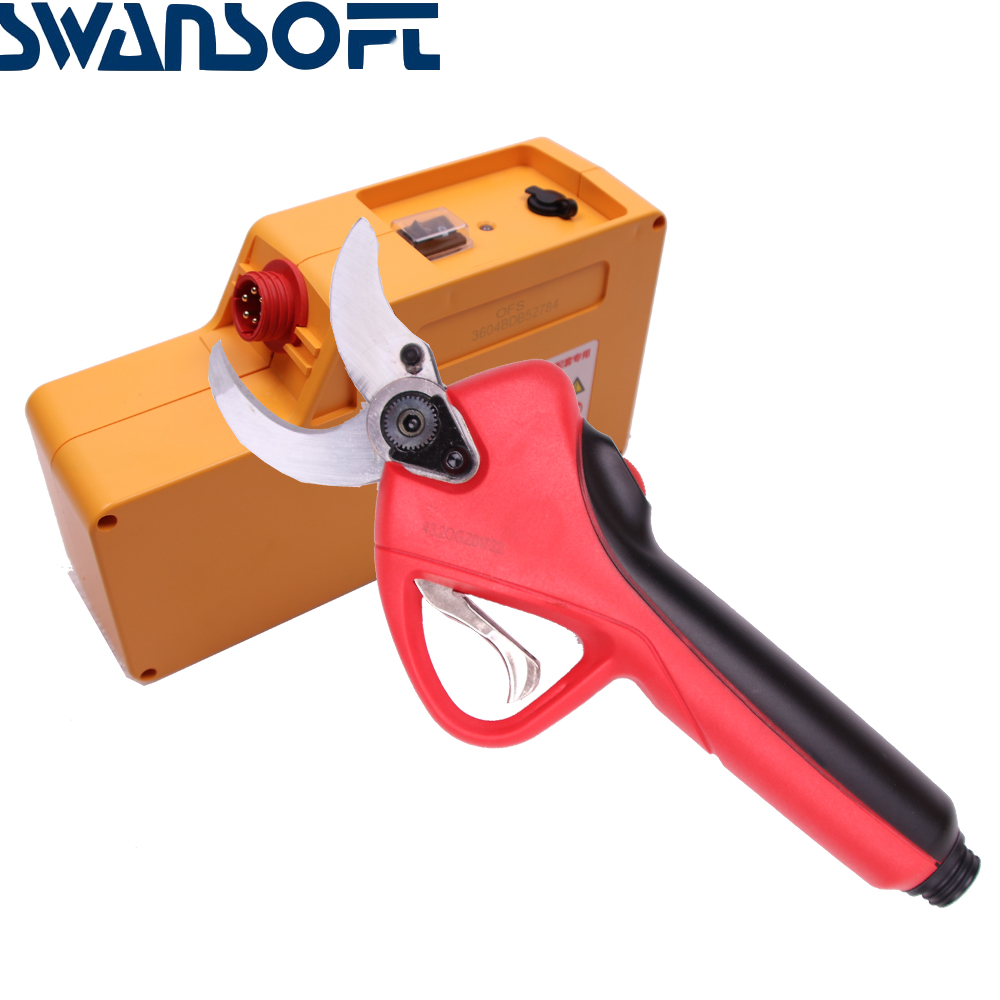 SWANSOFT Secateur Pruning Pruners Tools Shears Cordless Scissors Electric Rechargeable Garden Pruning Cutting