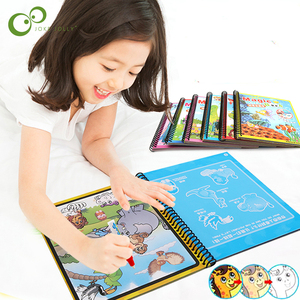 Magic Water Drawing Book Coloring Book Doodle Magic Pen Painting Drawing Board Kids Toys Birthday Christmas New Year Gift GYH