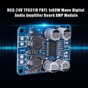 Image 1 - TPA3118 PBTL Mono DC8 24V 60W Digital Audio Amplifier Board AMP Module Chip 1X60W 4 8 Ohms Replace TPA3110