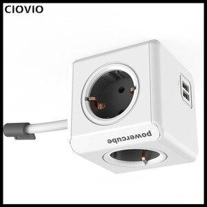 Image 4 - Ciovio Với Dây Nhà Thông Minh Power Cube Ổ Cắm Ciovio Adapter Dán Cường Lực Đa Chuyển Ổ Cắm
