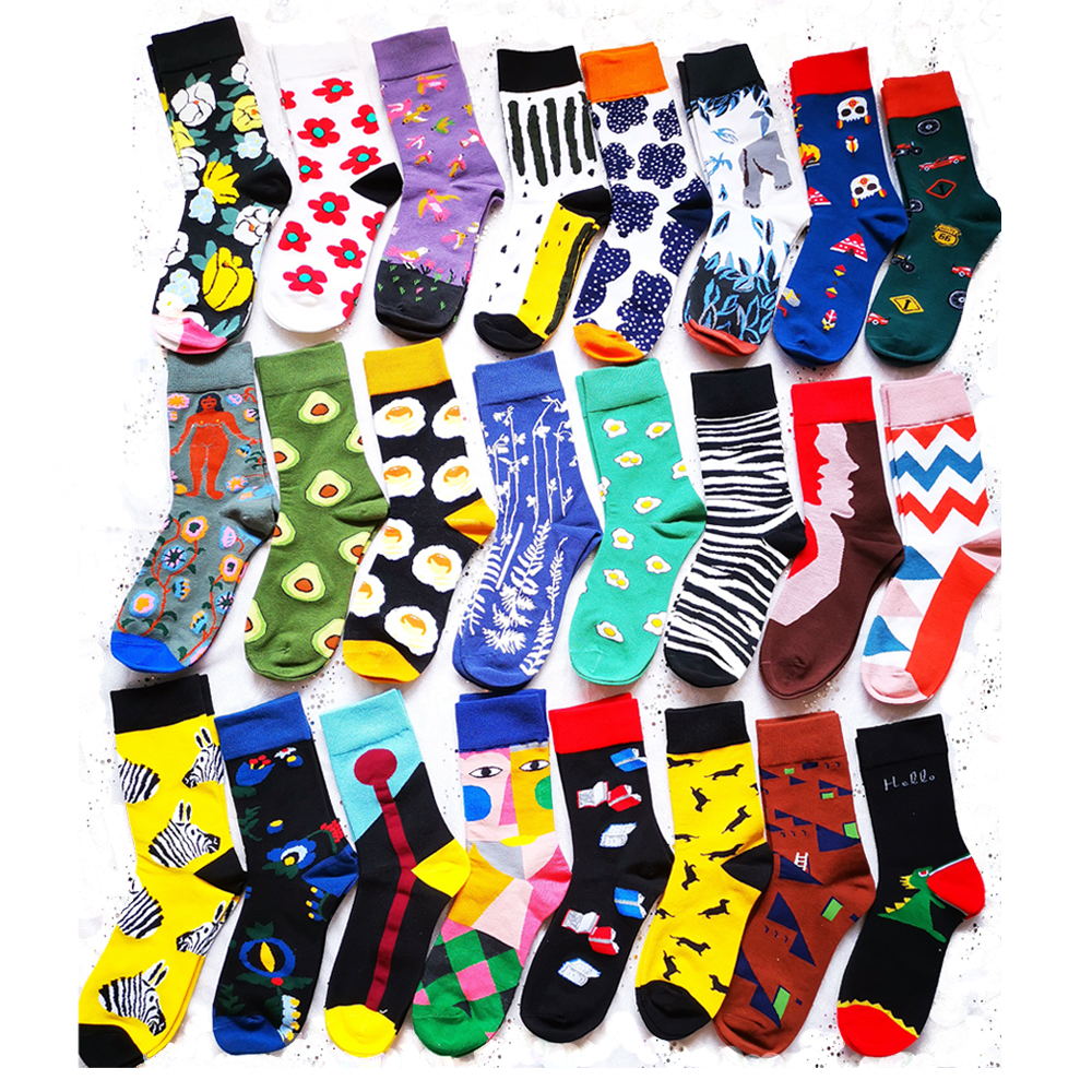 Cotton Women Socks Colorful Thick Winter Socks Warm Cotton Socks Cute Happy Socks Funny Socks Women Ladies Cotton Socks Cute