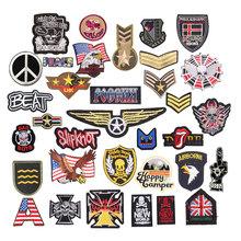 Odznaki wojskowe łaty hafty żelazko na łatka na odzież naklejki DIY szyć na ubrania kurtka dżinsowa plecak torebka odznaki F tanie tanio As Picture Show Tak ( 50 sztuk) Iron-on HANDMADE Ekologiczne Patches For Clothing PRINTED Appliqued DIY Tshirt Sweatshirts Hoodies