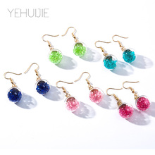 New Ladies Glass Ball Pendant Pair Of Sexy Earrings Ladies Fashion Jewelry Personality Geometric Ladies Earrings Charm Jewelry new ladies long pendant metal tassel earrings fashion jewelry personality geometric ladies earrings pendant jewelry