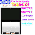 Starde LCD para Sony Xperia Tablet Z4 SGP712 SGP771 pantalla LCD de montaje de digitalizador con pantalla táctil Z4 pantalla Lcd