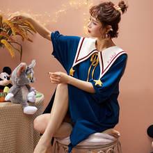Кукольный воротник Милая Кружевная хлопковая ночная рубашка