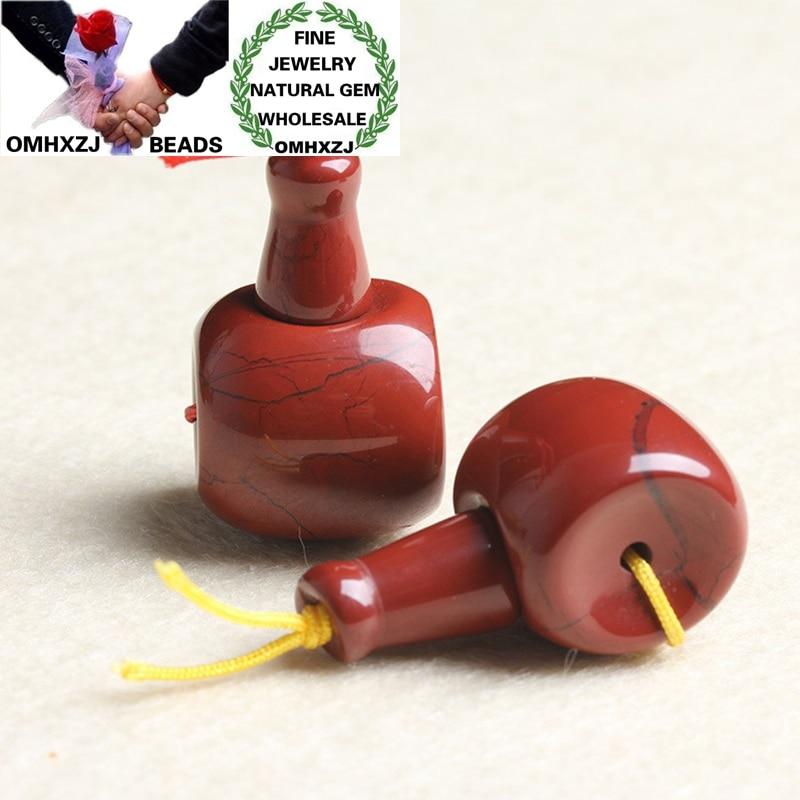 Omhxzj atacado zb467 1214161820mm diy jóias fazendo tibet guru pulseira colar comum natural fina pedra vermelha 3 furos contas
