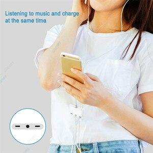 Image 3 - 3 in 1 Caricatore Audio Adattatore Per Cuffie Per iPhone X 8 Più di 7 6 Adattatore Del Telefono Cellulare Con 3.5mm jack Audio Splitter Adapter