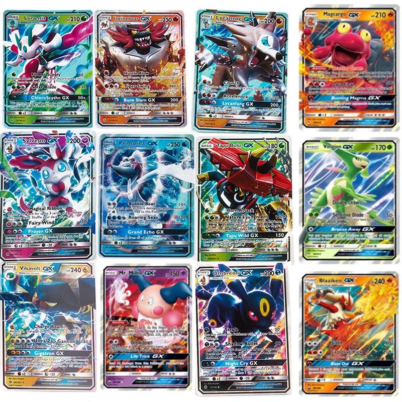 200 Pcs Pokemoning GX Card Shining TAKARA TOMY Cards Game Battle Carte Trading Children Toy