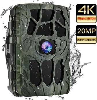 4K Hunting Camera Trap 20MP Infrared Hunt Night Vision Support 256GB Wildlife Photo-trap Hunting Trail Photo Camera Foto Chasse 1