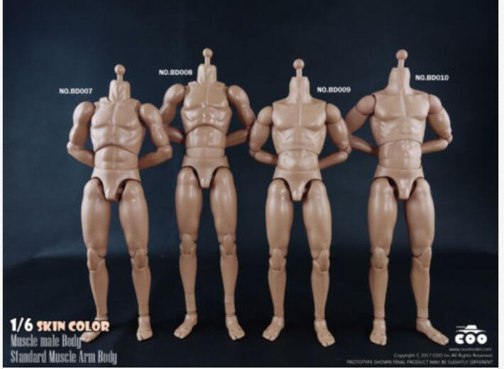 Dropshipping BD007 BD008 BD009 BD010 COOMODEL 1/6 Male Muscle Body Model Soldier DIY Action Figure Toys