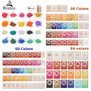Image 2 - Biutee 32 renk mika tozu epoksi reçine boya inci Pigment doğal akrilik tırnak kiti yeni BIUTEE poli jel tırnak jeli Glitter tozu