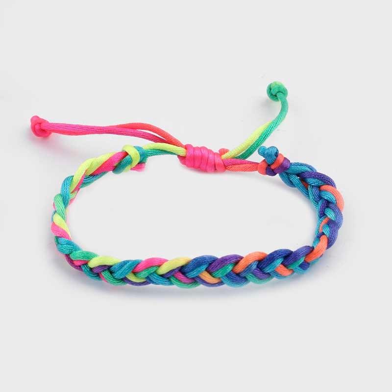 Braided Bracelet Colorful Korea Silk