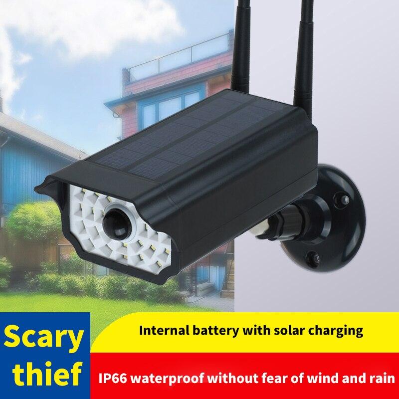Gefälschte Dummy Kamera Outdoor Waterdichte Thuis Kamera Solar Power Simulatie Kamera Erfüllt Led Licht Sicherheit Überwachung