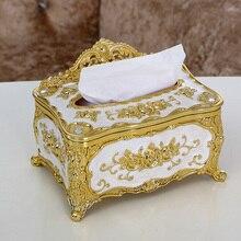 Металлическая Коробка Универсальная роскошная Европейская бумажная стойка аксессуары для офисного стола домашний офис KTV отель автомобильный чехол для лица держатель