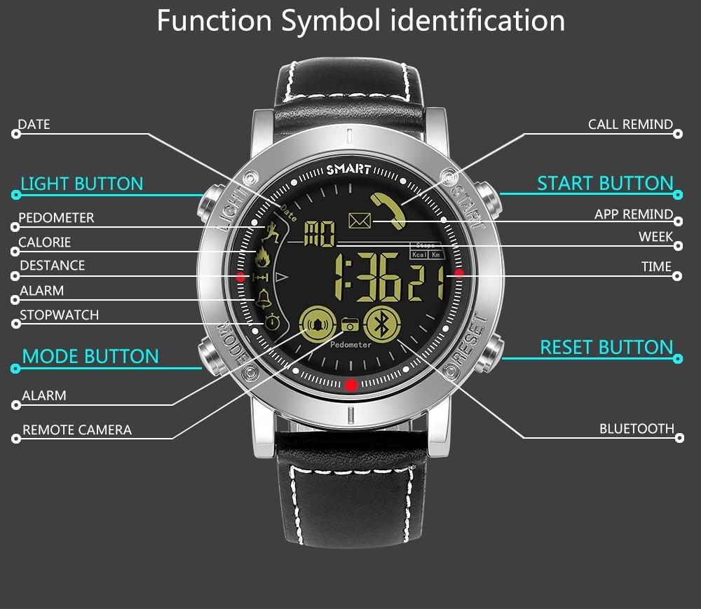 Reloj inteligente Shifenmei para hombre al aire libre relojes digitales LED deportivos Bluetooth 50m cronómetro impermeable reloj de pulsera para hombre reloj femenino