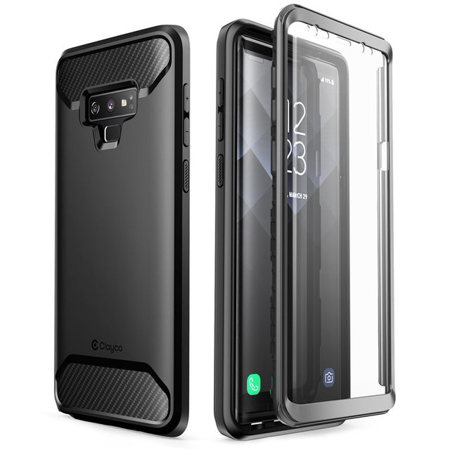 For Samsung Galaxy Note 9 Case Clayco Xenon Full Body Rugged Cover with Built in 3D Curved Screen Protector For Galaxy Note 9