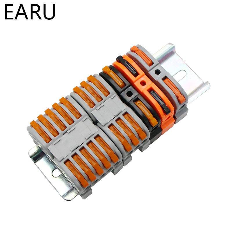 LSA 1 PCT 211 Din Rail Type Mini Quick Fast Wiring Cable Press Type Splicing Connector Instead Of UK2.5B Push in Terminal Block Connectors     - title=