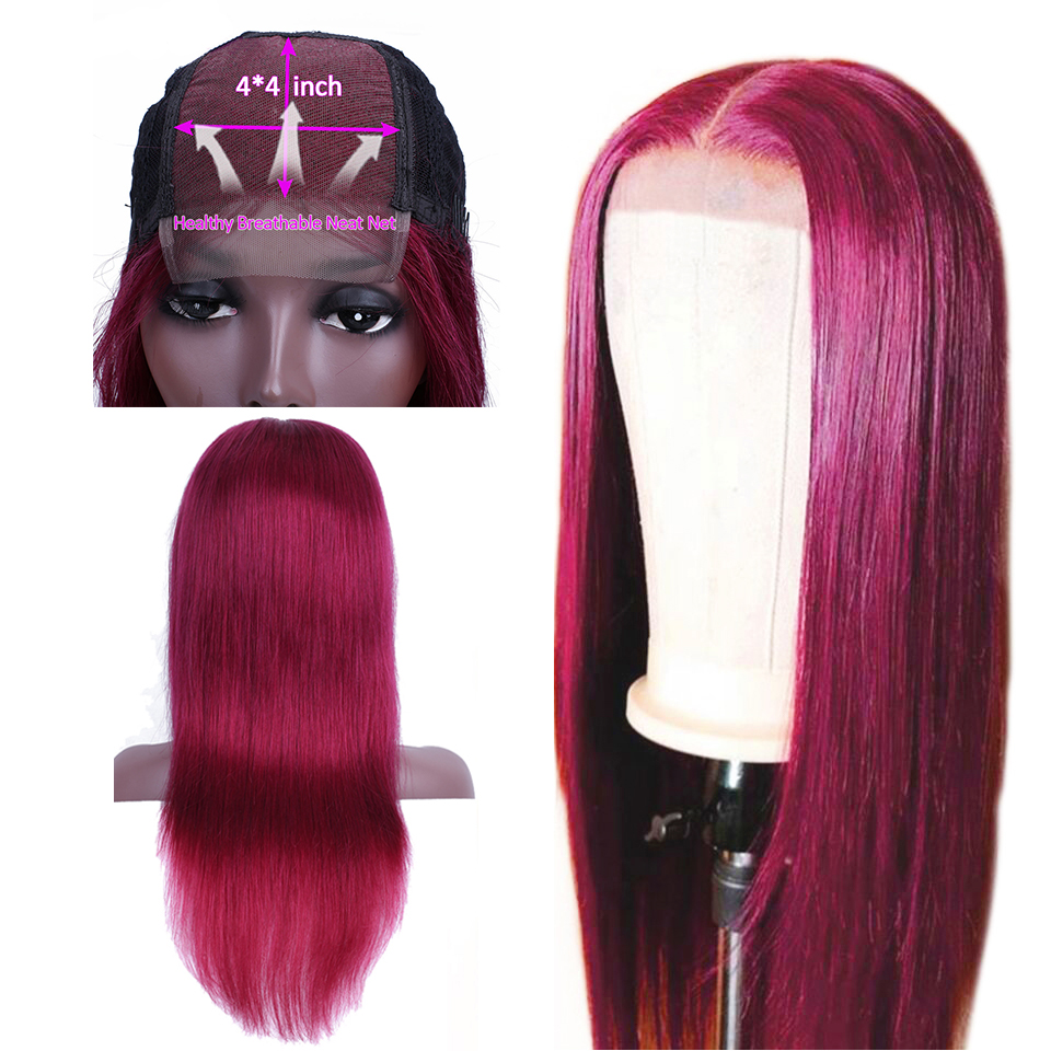 Soph Queen Straight 4 4 Lace Closure Human Hair Wigs For Black Women Omber Human Hair
