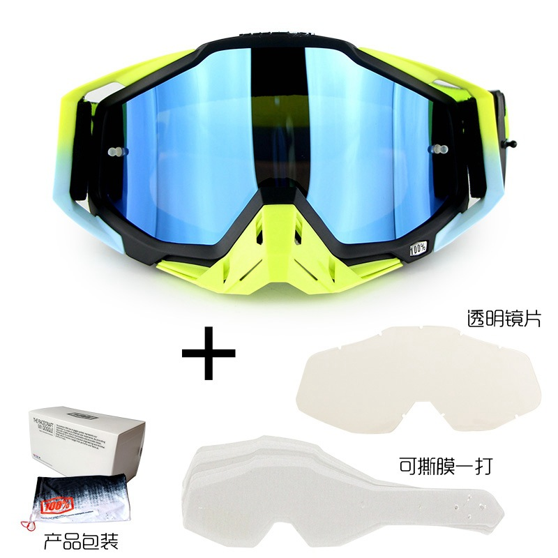 100% Racecraft Scrambling Motorcycle Helmet Goggles For Motorcycle Downhill Mountain Biking Eye-protection Goggles