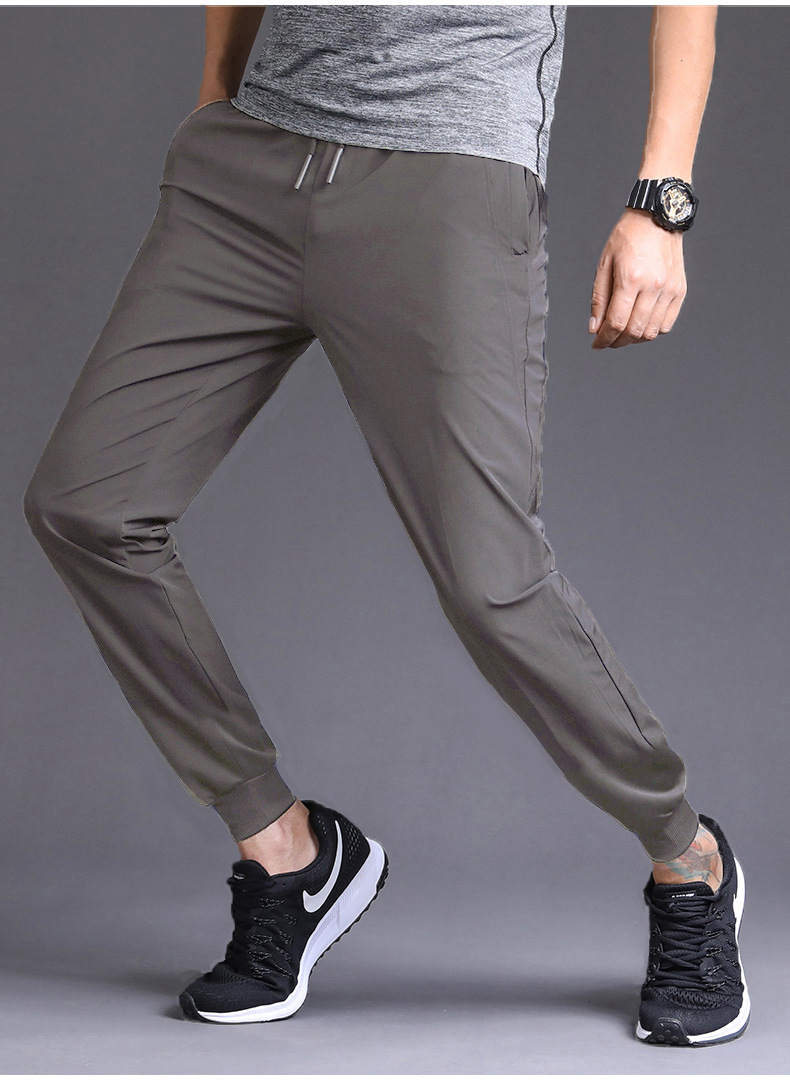 Men Sweatpants Woven Light Weight Men's Pants Keep Cool Professional Sports And Leisure Solid Color Trousers Streetwear