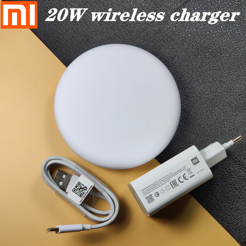 20W Xiaomi Wireless <font><b>Charger</b></font> <font><b>27W</b></font> EU <font><b>MI</b></font> fast <font><b>charger</b></font> For xiaomi 9 mi9 9t cc Redmi note 8 pro k20 for iphone /samsung galaxy s8 s9 image