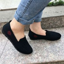 2020 spring and autumn new women's fashion cloth shoes flat shoes women's shoes flat bottom comfortable non-slip real shot map autumn fashion solid color denim cloth big bow tie flat bottom casual shoes new women travel gym shoes page 6