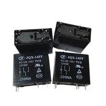 HEIßE NEUE 12V relais HF14FF HF1-4FF HF 14FF JQX-14FF-012-1ZS JQX 14FF 012 1ZS JQX14FF0121ZS 12VDC DC12V 12V 10A 5PIN