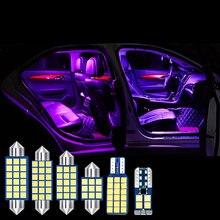 Автомобильные светодиодные лампы 4 шт без ошибок Купольные для