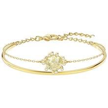 High Quality SWA Original Lady New Warm Love Elegant Fashion Solar Crystal Bracelet Jewelry