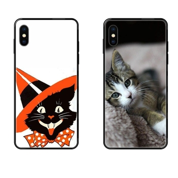 Black Friday Black Soft TPU Screen Protector Melancholy Cat Lovely Emboss Uv For Galaxy A10S A20 A20S A20E A21S A30S A40 A50 image