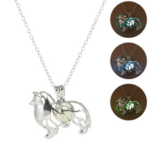2019 Charm 3 Color LuminouS Stone Necklace Animal Hollow Glow In The Dark Pendant for Women Men Punk Jewelry Accesories