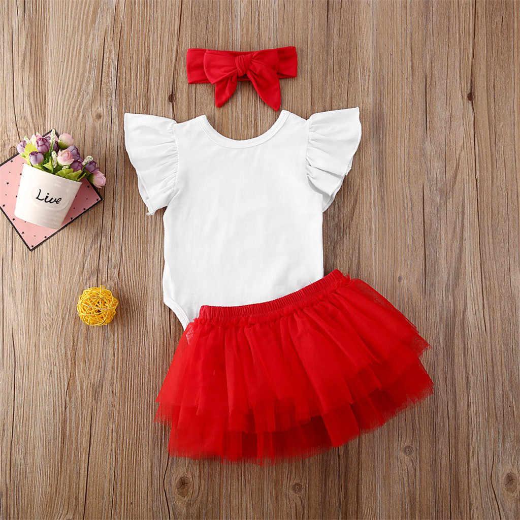 3 stücke Sommer Valentine Baby Mädchen Kleidung Für Neugeborene Infant Baby Mädchen Valentinstag Body Tutu Rock Stirnband Baby outfits