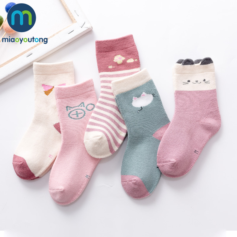 5 Pair High Quality Cartoon Thicken Warm Socks Kids Boy Winter Terry Thermal Floor Baby Girl Cotton Children Socks Miaoyoutong