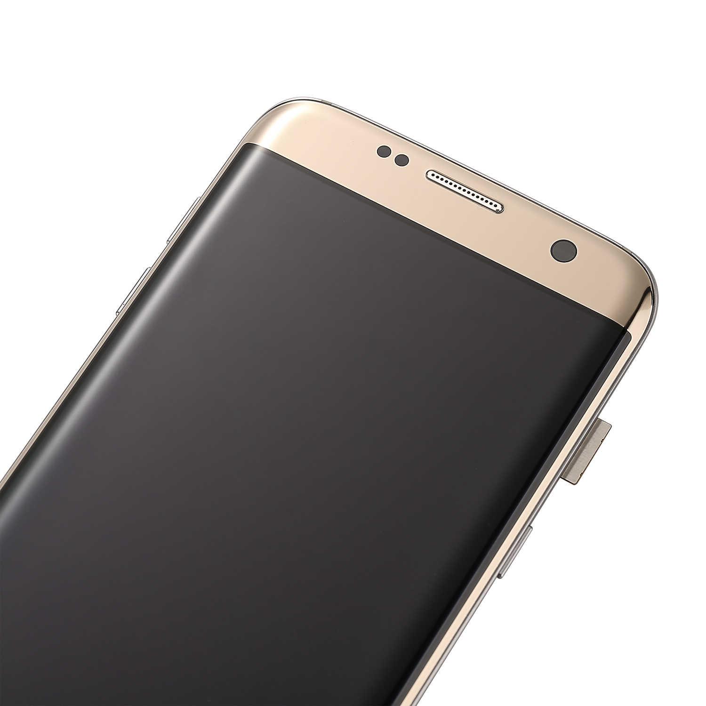 لسامسونج غالاكسي S7 حافة عرض G935 SM-G935F سوبر Amoled شاشة الكريستال السائل و مجموعة المحولات الرقمية لشاشة تعمل بلمس استبدال أجزاء