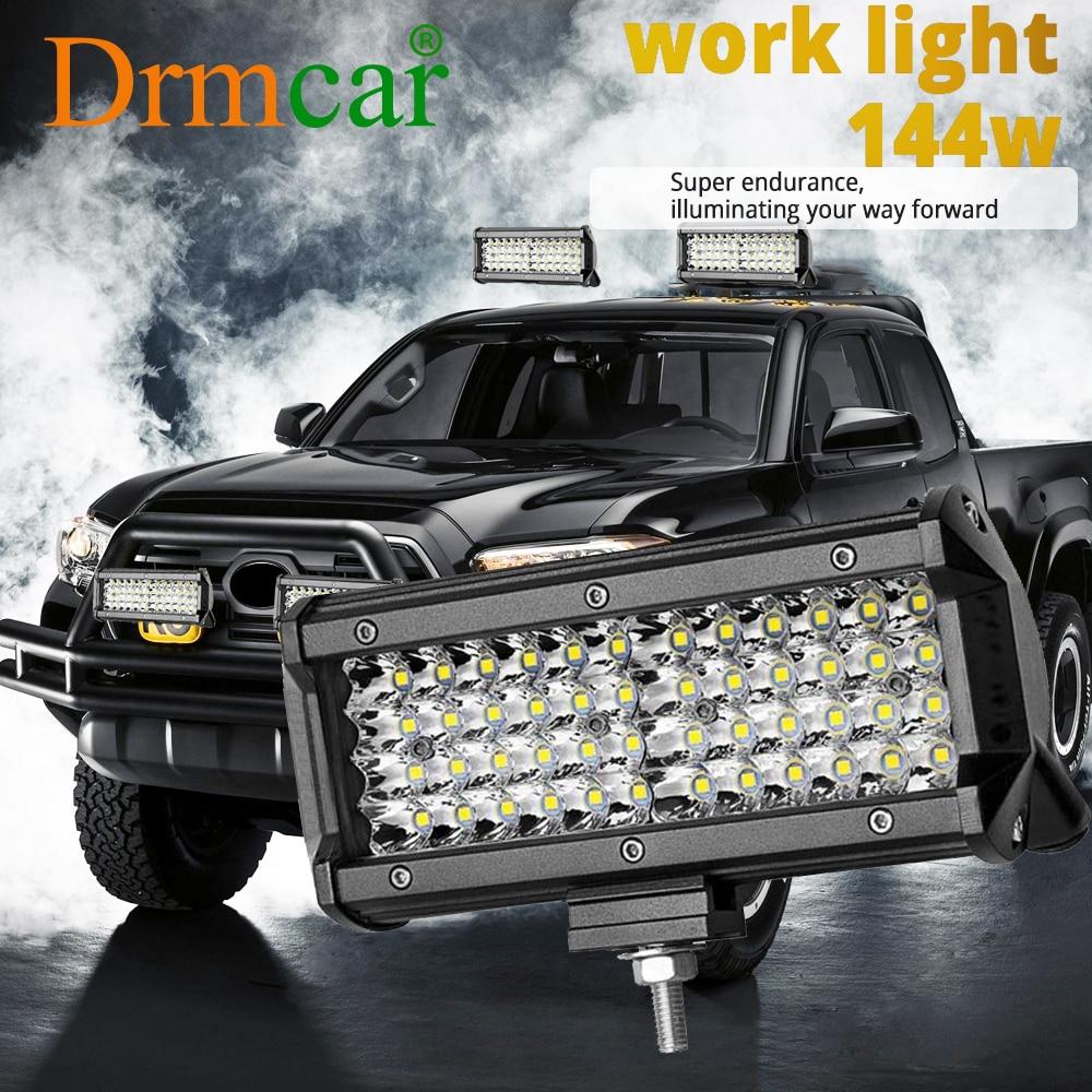 72w 144w barra de luz trabalho luz spotlight led barra de luz para caminhão dirigindo offroad barco carro trator 4x4 suv atv 12v 24v conduziu a lâmpada