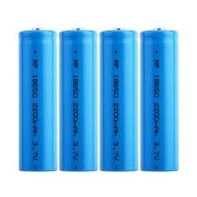 лучшая цена 4pcs 3.7V 18650 Lithium Battery 2200mah Large Capacity Rechargeable Battery Lithium Li-ion ICR Battery for Flashlight Headlamp