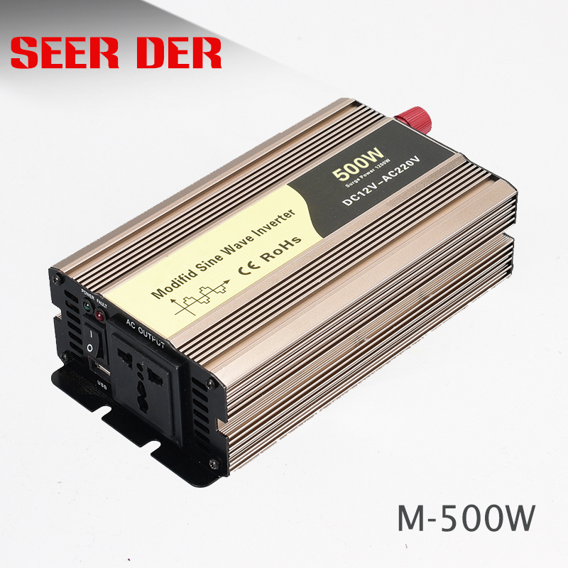 Single phase 500watt solar power inverter 24v dc to 220v ac circuit modified sine wave inverter