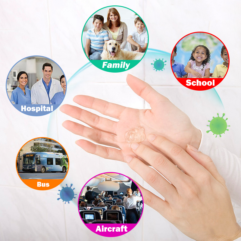 500 ml Hand Sanitizer 75% Alcohol Gel Desinfectante Hand Gel Desinfection Gel Hospital School Household Disinfectant Sanitiser