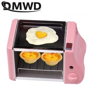 Wielofunkcyjne mini elektryczne pieczenie piekarnia pieczeń piekarnik grill smażone jajka omlet patelnia urządzenie śniadaniowe maszyna do chleba toster