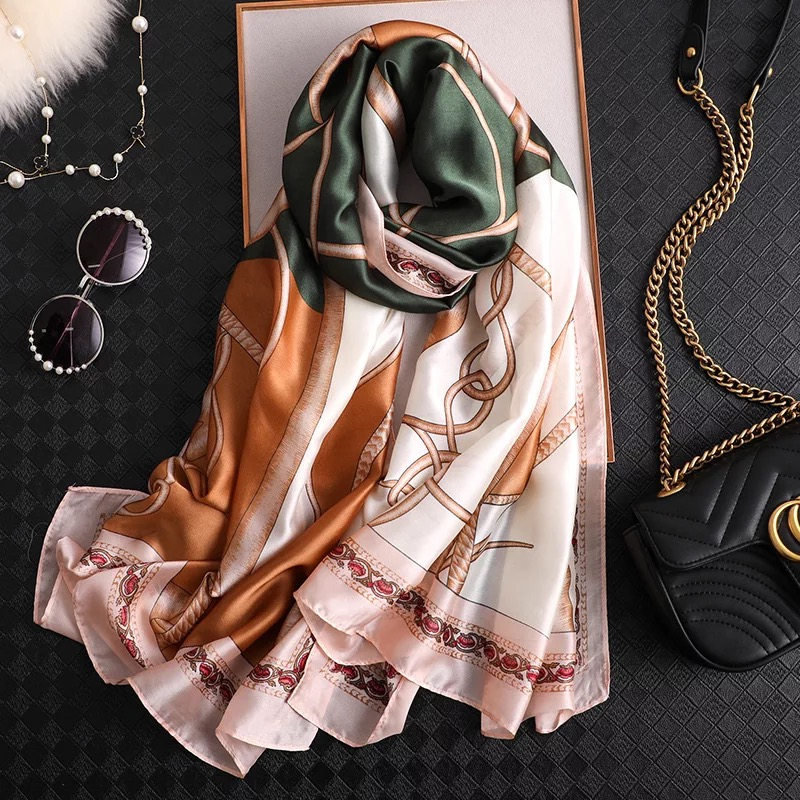 2019 Women Large Scarf Foulard Beach Ladies Shawl Silk Wraps Chiffon Muffler Female Bandanna Pareo Classic Beach Free Shipping