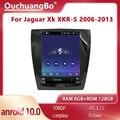 Ouchuangbo tesla Стиль для Jaguar Xk XKR-S 2006-2013 Автомобильный мультимедийный радио GPS navi CarPlay Авто 128GB Android 10