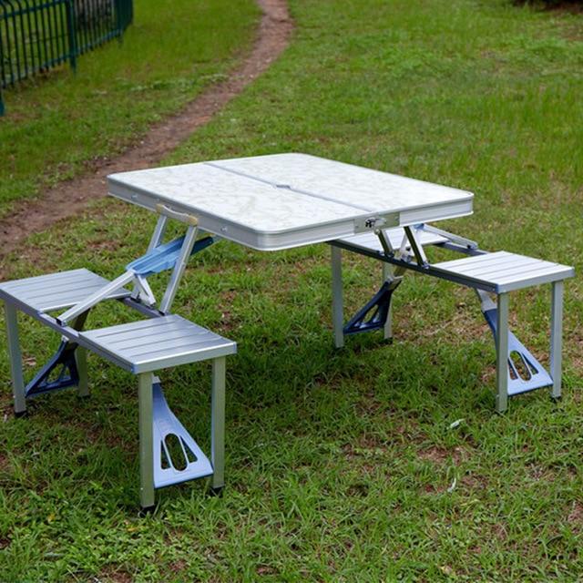 Aluminum Camping Table Set 4